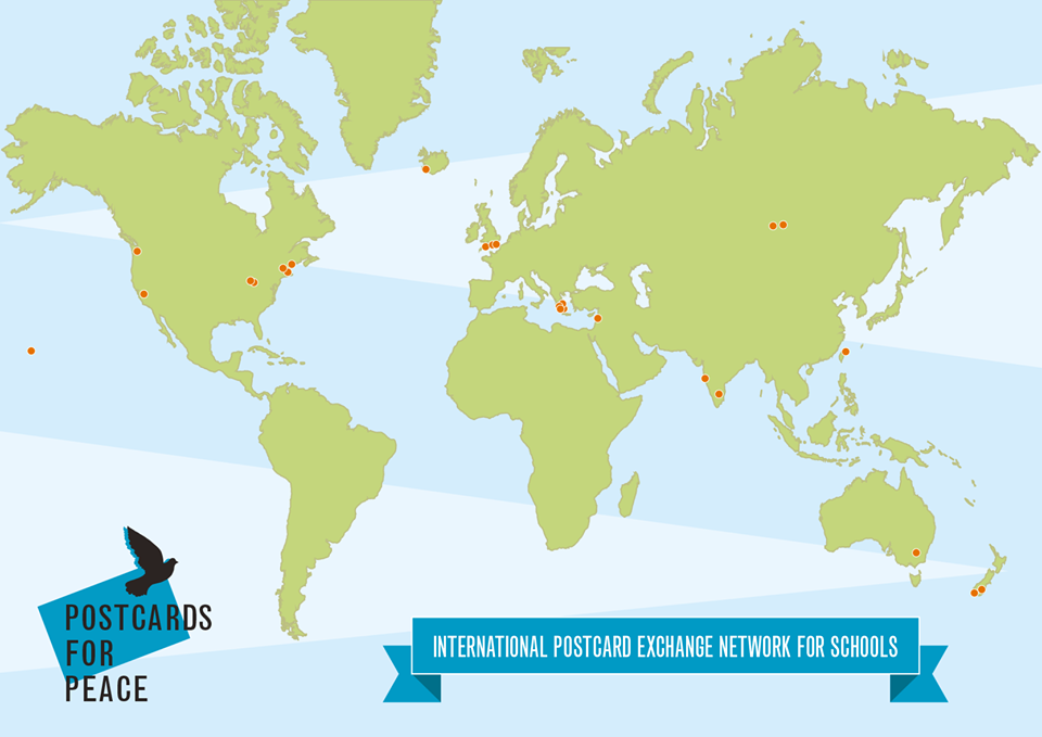 Postcards for Peace Map