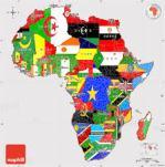 Pelican Post Map of Africa